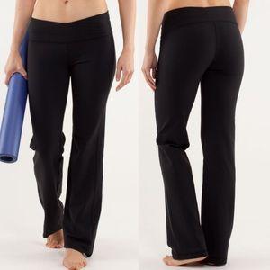 Lululemon Black Astro Pants Flare Yoga Leggings 10